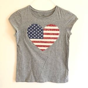 GAP American Flag Heart T-Shirt